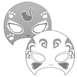 プクプクスポーツフェイスプロレスマスク